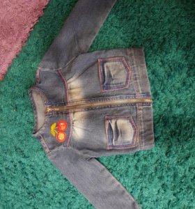 Продам джинсовку на девочку р.74-92