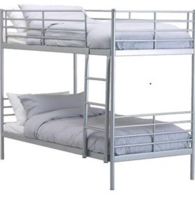 Кровать железная двухъярусная
