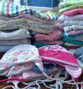 Вещи пакетом на девочку от 3 до 8 месяцев