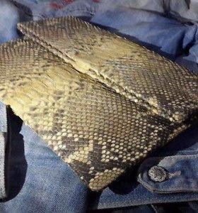 Клатч из натуральной кожи питона с острова Бали