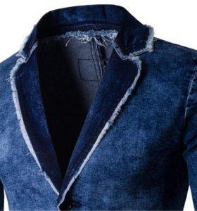 Джинсовая летняя куртка/пиджак