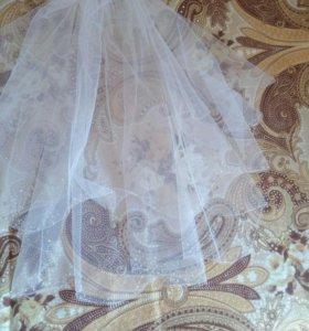 Фата и перчатки на свадьбу