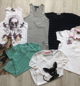 Пакет вещей 7 футболок, топов, поло