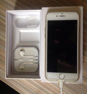 Айфон 6 белый,новый, полный комплект,оригинальный