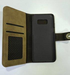 Чехол бумажник для Samsung Galaxy S8