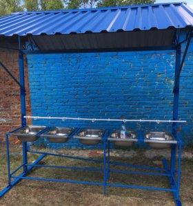 Умывальники для лагерей,организации