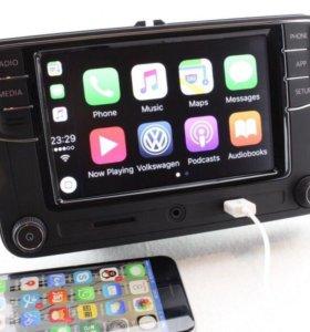 Магнитола RCD 330+ CarPlay для VW, Skoda