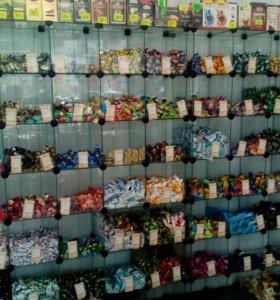 Стеклянной витрины для конфеты