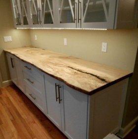 Столешницы для кухни из массива дерева (Слэба)