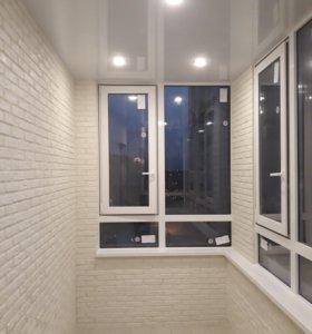Замена холодного остекления теплым на балконе.