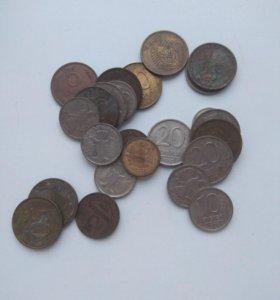 Монеты с 1977 по 90е.