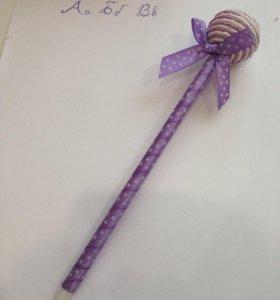 Ручка самодельная(фиолетовая)