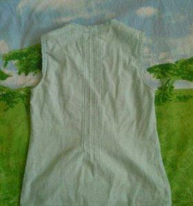 Блузка голубая, размер 40-42