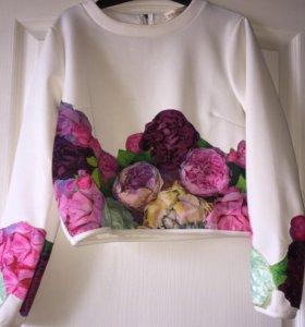 Костюм кофта +юбка - шорты