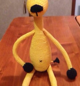 Игрушка-амигуруми, связанная крючком. Жираф малый.