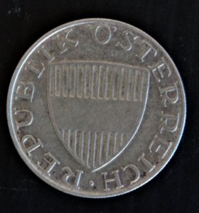 Австрия 10 шилингов 1957 г. (серебро)