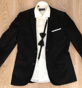 Мужской костюм пиджак+рубашка+бабочка