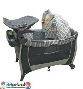 Кроватка - манеж 3 в 1 + пеленатор