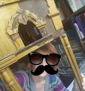 Старинная рама для зеркала