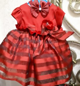 Платье для девочки нарядное на рост 68-80 см