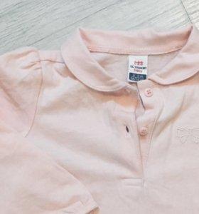 Розовая кофточка с воротником