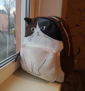 Рюкзак кот новый