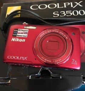 Срочно!Фотоаппарат Nikon s3500.      20megapixels
