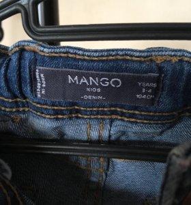 Джинсы Mango 104см
