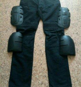 Мото-джинсы с защитой кевларовые нити