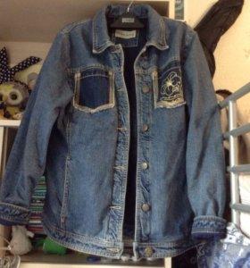 Джинсовка тёплая джинсовая куртка