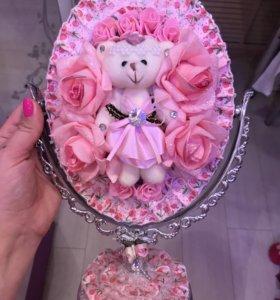 Зеркало с мишкой
