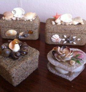 Морские сувениры шкатулки