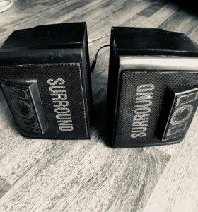 Аудио колонки стерео активные компьютерные