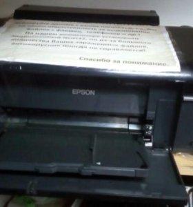 Рабочие принтеры Epson p50 и T50