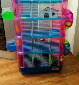 Клетка большая для хомяков и мышек