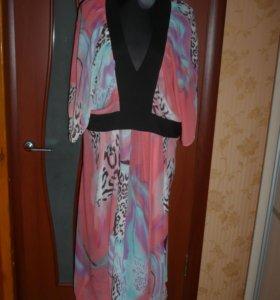 Красивое платье из шифона 58 размера Zrimo