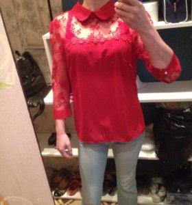 Новая красная блуза