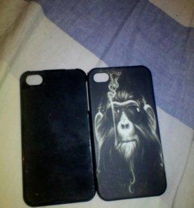 Два чехла на iphone 4/4s