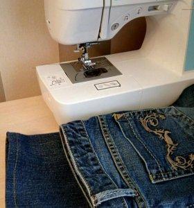 Подшив брюк,джинс,штор.Пришить шторную ленту.