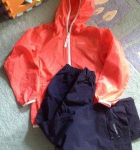 Непромокаемые ветровка  и штаны на 115-124 новые