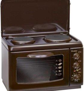 Малогабаритная настольная плита с духовкой