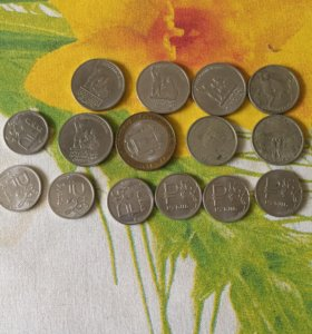 Монеты коллекционные 87 штук плюс подарок