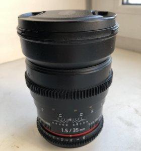 Объектив samyang 35mm 1.5
