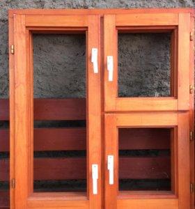 Деревянная рама для окна новая