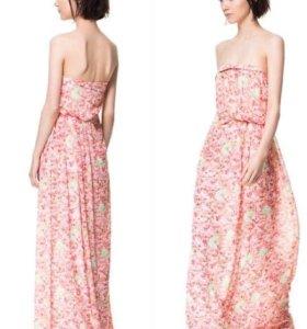 Шифоновое платье в пол 42-46