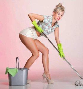 Уборка квартир,домов,офисов.услуги сиделки и няни.