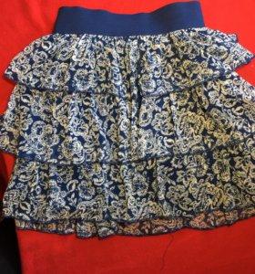юбка в валанами