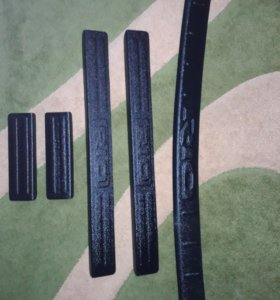 Накладки на пороги и задний бампер КИО РИО III