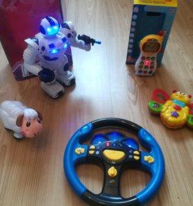 Игрушки, робот развивающие на батарейках