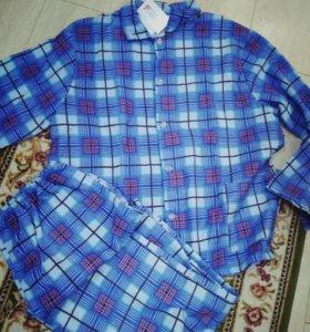 Пижама мужская фланель новая